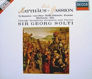 St. Matthew Passion Bwv 244, Disc 1