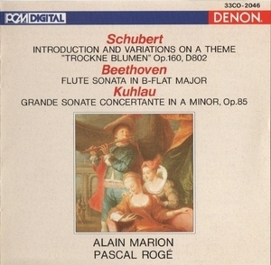 Schubert, Beethoven, Kuhlau - Flute And Piano - Marion, Roge
