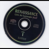 Renaissance - Live At Carnegie Hall Disc 1 '1976
