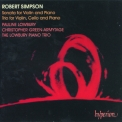 Robert Simpson - Violin Sonata & Piano Trio '1993