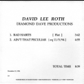 David Lee Roth - Internal Promo Cd-r '1994
